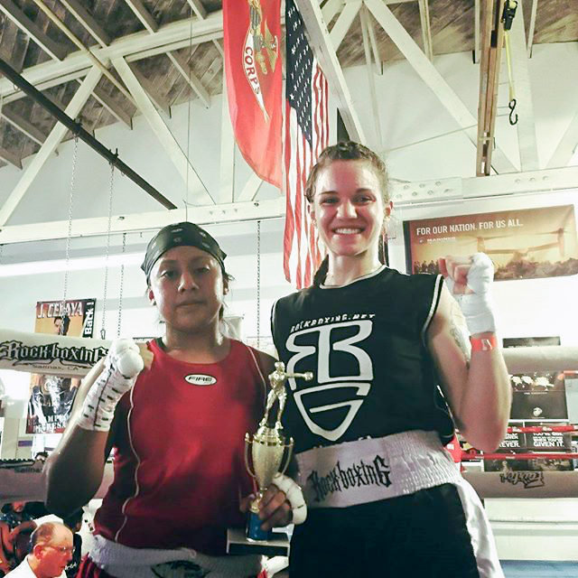 Lizzie Guillot's first fignt | EliteSFN Maryland Boxing