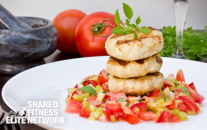 Healthy Diet Recipe Chicken Burgers with Corn Relish
