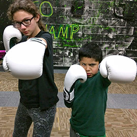 Kids learning boxing at Elite SFN Columbia, Ellicott City, Baltimore